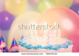 simple white birthday cake cake candles stock photo 399440887
