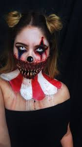Scary Clown Costumes Halloween Halloween Makeup Halloween October Sf Special Effects Clown Makeup
