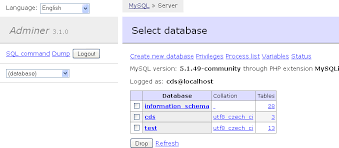 Mysql Change Table Collation Adminer Database Management In A Single Php File