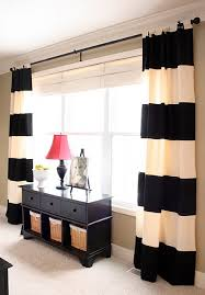Open Those Curtains Wide How To Make No Sew Striped Curtains Diy U0027s Pinterest