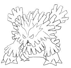 coloring mega evolved pokemon mega abomasnow 460 460
