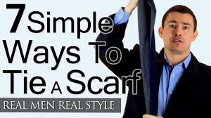 Mens Formal Wear Guide Man U0027s Guide To Tying A Scarf 7 Simple Ways To Tie Scarves Man