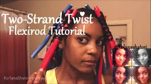 stranded rods hairstyle 5 two strand twists on flexirods tutorial transitioning hair