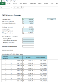 Mortgage Calculator Amortization Table by Get Your Free Microsoft Excel 2013 Mortgage Calculator