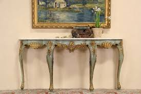 Venetian Console Table Sold Venetian Marble Top Painted Gold 1920 Console Table