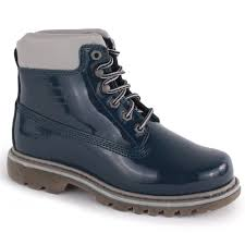 womens boots navy caterpillar bruiser womens patent leather boots navy