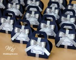 blue and silver wedding navy blue wedding etsy