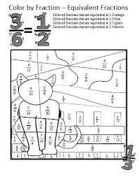 equivalent fractions worksheets these coloring sheets make