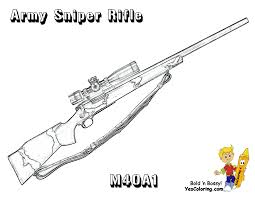 coloring m40 a1 army sniper rifle coloring book pinterest