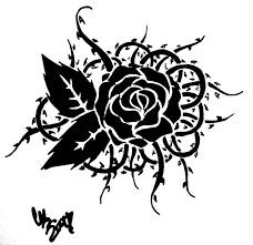 tribal rose and thorns by carteraug21 on deviantart