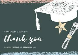 graduation thank you card templates canva