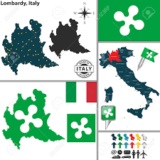 Campania Italy Map by Vector Map Of Region Lombardy With Coat Of Arms And Location