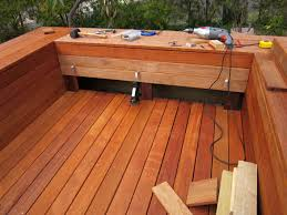 Build Deck Bench Seating Build A Diy Deck With Bench Seats The Dirt Effect
