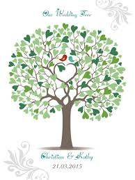 wedding tree 2016 wedding tree guest book signature only lover birds heart