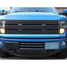 Ford Raptor Grill Lights - f 150 upper grille raptor style gray 2009 2014 cj pony parts