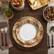 amazon com corelle impressions 16 piece dinnerware set woodland