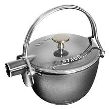 staub black friday staub la theiere teapot 1 quart graphite grey cutlery and more