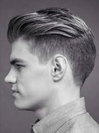 hair cut for men shaved on sides slicked back on top hairstyle with slicked back2 30 pompadour hairstyles pinterest