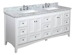 Shaker Style Vanity Bathroom by Double Bathroom Vanity Carrara White Includes White Shaker