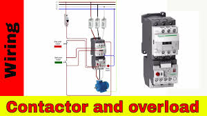 how to wire contactor and overload relay wiring for diagram