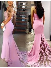 graduation dresses 8th grade fitted pink lace prom dresses spaghettti applique evening party
