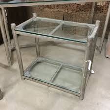 Glass Top Side Table Glass Top Side Table Nadeau Miami