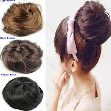 bun scrunchie new women pony clip in on hair bun hairpiece hair extension