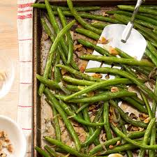 green bean recipes for thanksgiving roasted green beans with lemon u0026 walnuts recipe taste of home