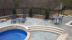 swimming pool bluestone pool deck decor with sunbathe chair also