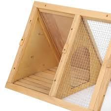 Ferret Hutches And Runs Ikayaa Multi Use Outdoor Triangle Wooden Rabbit Hutch Guinea Sales