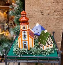 porcelain houses typical souvenirs rothenburg ob der tauber stock