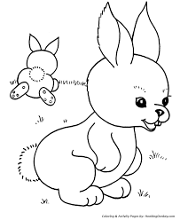 easter bunny coloring pages easter bunny rabbits honkingdonkey