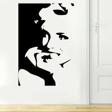 chambre marilyn marilyn portrait wall vinyl decal sticker mural chambre