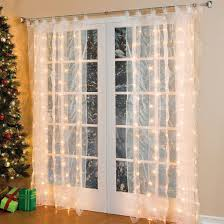 amazon window drapes com brylanehome pre lit curtain panel string lights