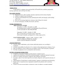 exles of nursing resume charming resume sle for nurses with no experience gallery entry