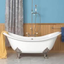 chic clawfoot soaking tub 48 abbey copper double slipper clawfoot