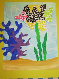 3rd grade paper mosaic fish 14