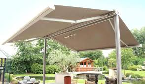 free standing patio awnings free standing retractable patio