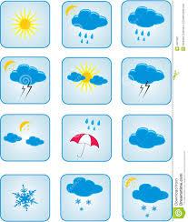 Weather Map Symbols Weather Symbols Stock Image Image 4931821