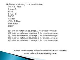 ISTQB Mock Test  Question Papers and Answers  Software Testing     ISTQB Mock Test  Question Papers and Answers  Software Testing     Links