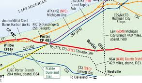 csx railroad map elkhart chicago from nyc to ns trains magazine
