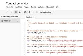 script for generating google documents from google spreadsheet