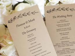 tea length wedding programs printable wedding program template kraft paper wedding programs