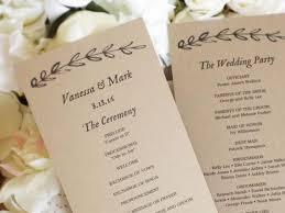 tea length wedding program template printable wedding program template kraft paper wedding programs