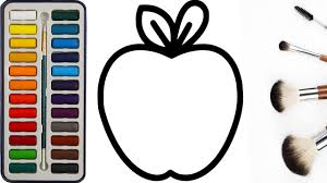 how to draw apple apple coloring pages apple painting learn