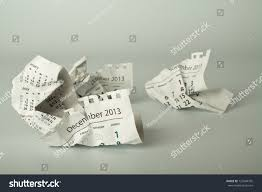 calendar sheet crumpled paper on floor stock photo 127640765
