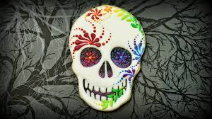 How To Make Halloween Sugar Cookies by Creepy Sugar Skull Cookies Youtube