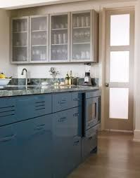 Coloured Kitchen Cabinets Comely Blue Color Wooden Kitchen Cabinets Featuring Black Color
