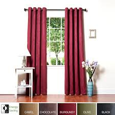 95 Inch Curtain Panels Home Faux Suede Grommet 95 Inch Insulated Blackout Curtain