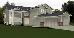 beautiful bi level house plans with attached garage 4 2010539